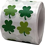 InStockLabels Tiny Shamrock St. Patricks Day Stickers Design By Doodlebug 1/2 x 1/2 Inch 400 Total Stickers