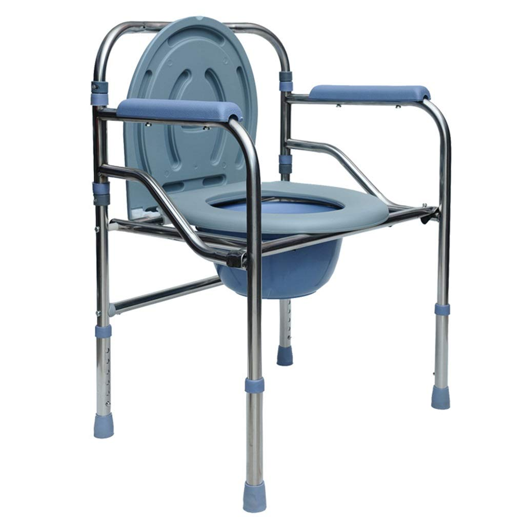 G-LXYZBQSHYP Drive Medical Folding Bedside Commode Seat Elderly Toilet Chair Adjustable Height for Seniors Disabled Person by G-LXYZBQSHYP