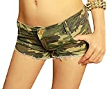 Vska Womens Hot Night Pants Camo Club Summer Sexy Vogue Jean Shorts As Picture S