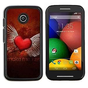 EJOOY---Cubierta de la caja de protección para la piel dura ** Motorola Moto E ** --El amor Hacer el Amor