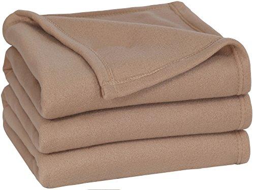 King Polar Fleece Thermal Blanket Tan