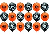 100pcs Halloween Black Dragonfly Orange Pumpkin Balloons Hotel Shopping KTV Party Scenery Halloween Decorations