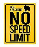 Idakoos - Fast Keeshond No Speed Limit - Dogs - Parking Sign