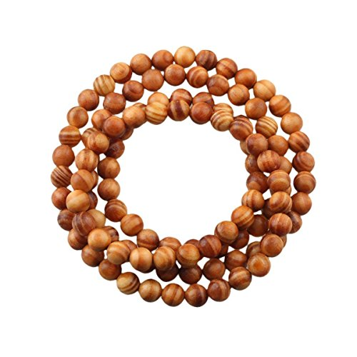 CarpenterC 200pcs 6mm Gorgeous Natural Round Polished Rosewood Loose Beads For Jewelry Making DIY Handmade Craft ()