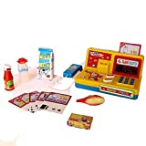 Dazzling Toys Supermarket Cash Register with Phone and Food Shopping Playset for Kids - (D148)