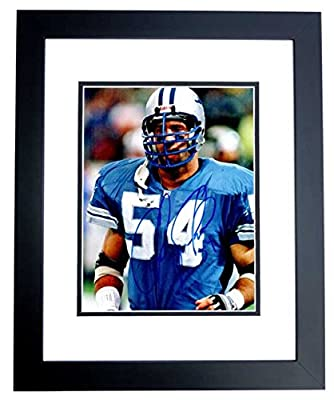 Chris Spielman Signed - Autographed Detroit Lions 8x10 inch Photo BLACK CUSTOM FRAME - Guaranteed to pass PSA or JSA - College Hall of Famer