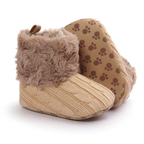 Saingace® Krabbelschuhe boots,Baby Soft Sole Schneestiefel weiche Krippe Schuhe Kleinkind Stiefel