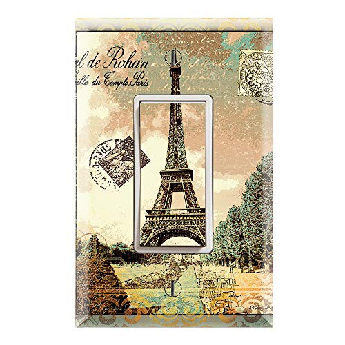 - Graphics Wallplates - Vintage Paris Eiffel Tower - Single Rocker/GFCI Outlet Wall Plate Cover