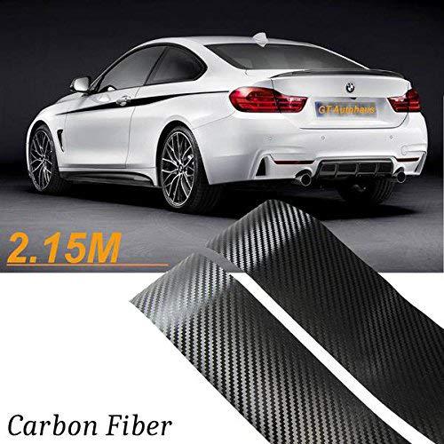 2x 2.15M Sport Performance Carbon Fiber Side Skirt Decal Stripe Sticker for BMW 3 4 5 Series F30 F31 F32 F33 F36 E60 E61