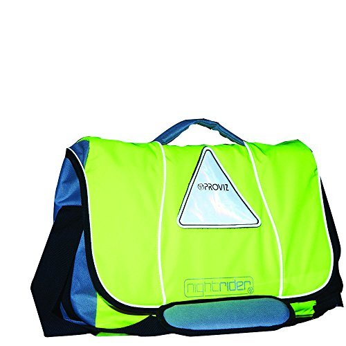 Messenger Bag, Waterproof, Hi-Viz, Laptop Compatible (Yellow) by Proviz
