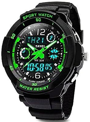 KIDPER Kids Sports Digital Watch - Boys Analog Waterproof Sport Watches with Alarm,LED Watch For Childrens by KIDPER