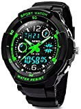 Kids Sports Digital Watch - Boys Analog Waterproof Sport Watches with Alarm - LED Watch For Childrens