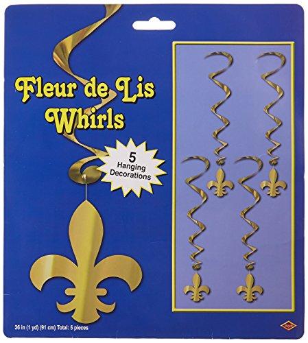 Fleur De Lis Whirls   (5/Pkg)