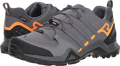 adidas Outdoor Men Terrex Swift R2 GTX Running Shoe, Grey/Orange, 9.5 D(M) US