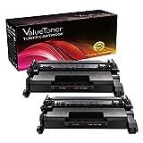 ValueToner Compatible Toner Cartridge Replacement for Hewlett Packard HP 26A (2 Black) CF226A Compatible With LaserJet Pro M402dn M402dw M402n MFP M426fdn M426fdw Laser Printer by ValueToner