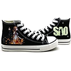 SAO Sword Art Online Cosplay Shoes Canvas Shoes Sneakers