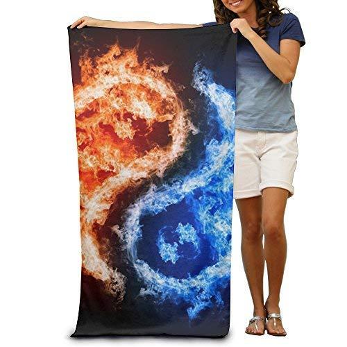 Towel Warmer Taiji (TanJieis Oversized Beach Towel, Bath Towel, Quick Dry Towel Microfibre Towel, Taiji Bagua Blue Flame Printing Awesome Towel)