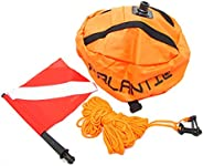 Scuba Choice Palantic Scuba Diving Spearfishing Nylon Ball Shape Float with Dive Flag