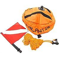 scuba choice Palantic buceo pesca submarina llana de forma de bola de nailon, con bandera de buceo