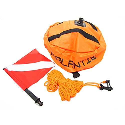 Scuba Choice Palantic Scuba Diving Spearfishing Nylon Ball Shape Float with Dive Flag (Flag Dive Nylon)