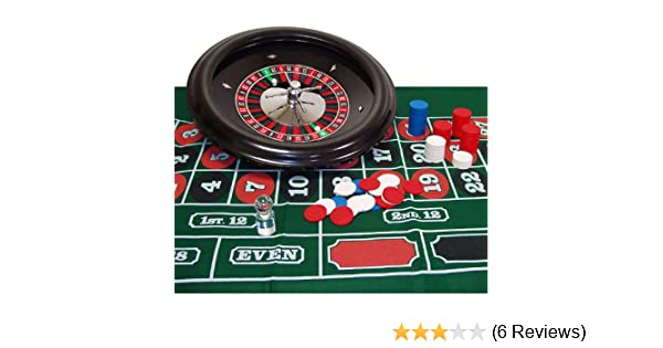 100 Chips Comes with Layout Marker and 2 Balls Deluxe 18 Inch Wheel Roulette Set