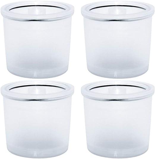 4 Piezas de Filtro de plástico y Acero Inoxidable para cápsulas de ...