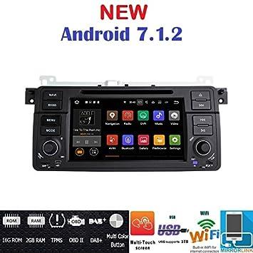 Android 7.1 GPS DVD BT Radio Navegador BMW E46/BMW M3/Rover 75/MG ZT: Amazon.es: Electrónica