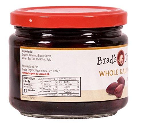 Brad's Organic Whole Kalamata Olives, 10 Ounce