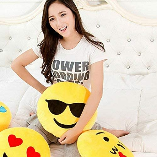 Amazon.com: Sealive 36cm Emoji Pillow Cool Sunglasses, Large ...