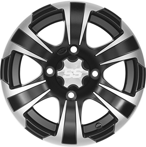 ITP SS312 Alloy Wheel Black 12x7 4+3 for Polaris Sportsman by I.T.P. Tires (Image #1)