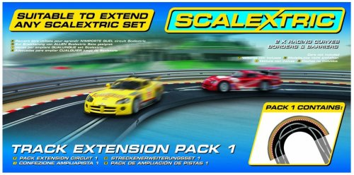 Scalextric C8510 Track Extension Pack - 2x Racing Curves Borders- Barriers ()
