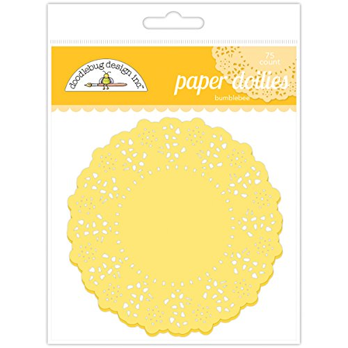 Doodlebug Doilies, 4.5-Inch, Bumblebee, 75-Pack