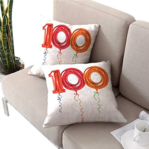 100th Birthday Neck Pillow Party for Hundred Years for sale  Delivered anywhere in Canada