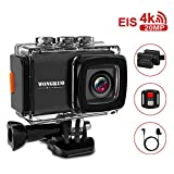 Cheap UPGRADED WONGKUO Action Camera Ultra HD 4K 20MP EIS Anti-shake Sport Camera 98ft Waterproof 170°Wide-Angle WiFi Camcorder with External Microphone & Remote Control & Mounting Accessories Kit(Standard)