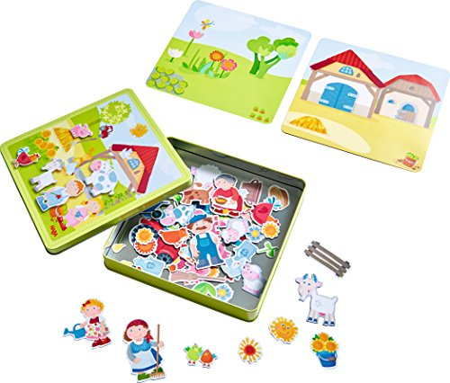 HABA Peter and Pauline's Farm Magnetic Game with 4 Background Scenes in...