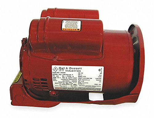 1 HP Water Circulator Motor, Split-Phase, 1725 Nameplate RPM, 115/208-230 Voltage, Frame NEMA 48