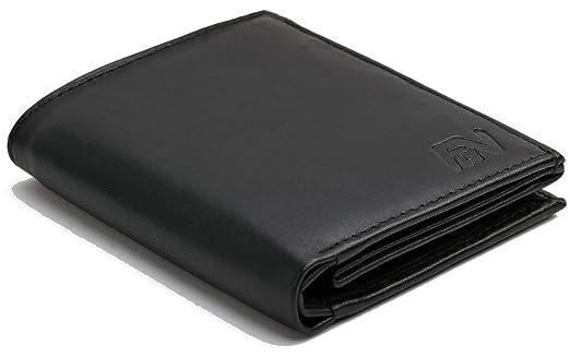 264 opinioni per Portafoglio nero in vera pelle in formato verticale del modello -WSH91-