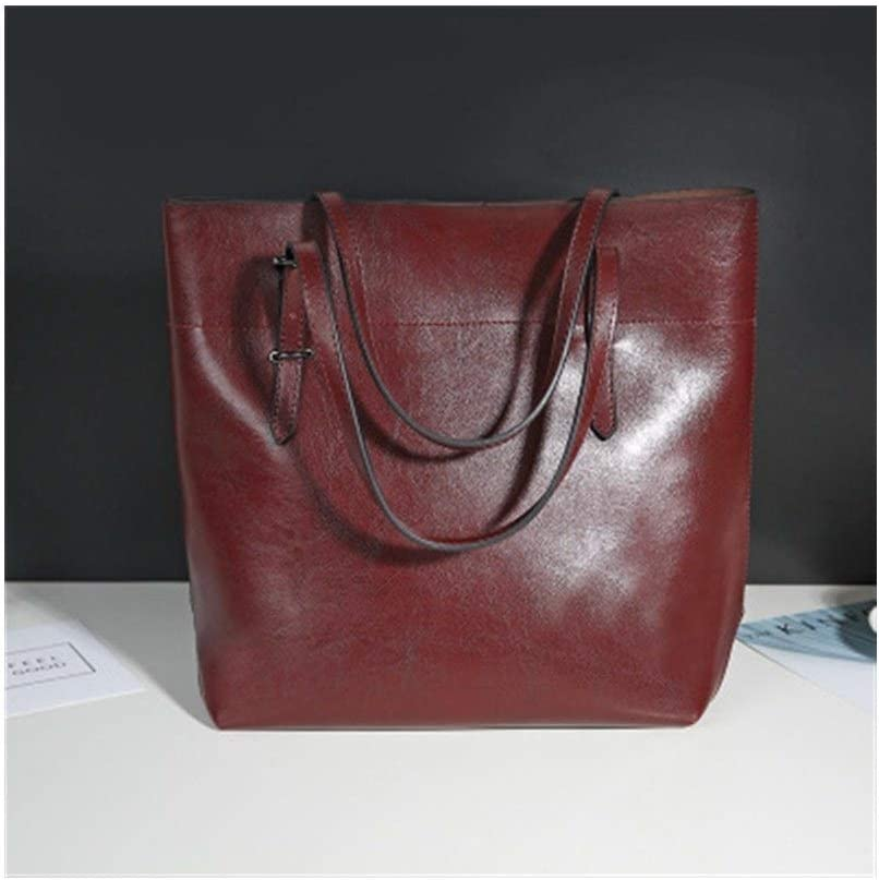 HONGkeke Lady Totes Clutch Handbag for Women Shoulder Bags Satchel Saddle Purse High Capacity Hobo Bag Eye-catching Color : Dark Red
