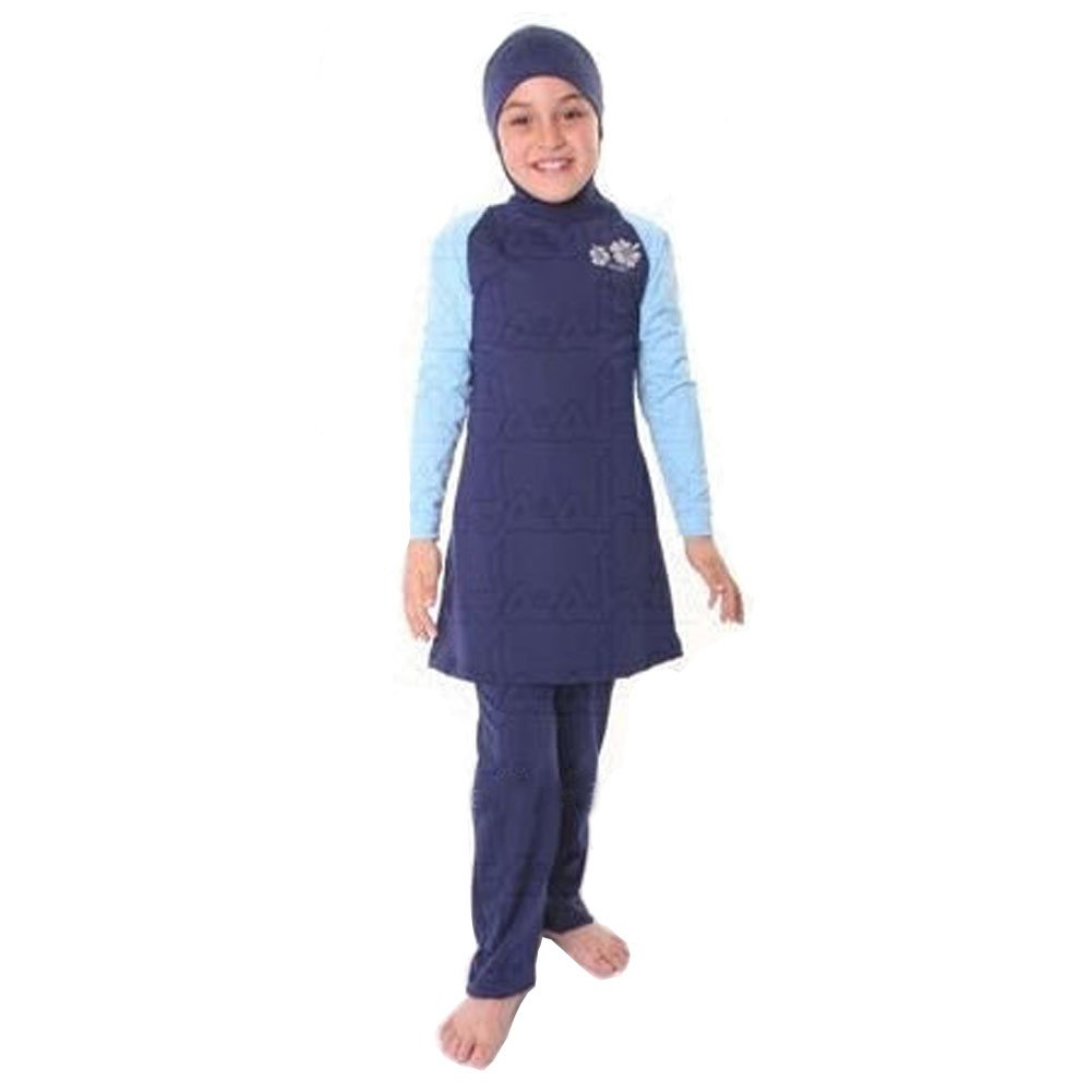 Lazy Cat Modest Full Cover Muslim swimwear for Little Girl
