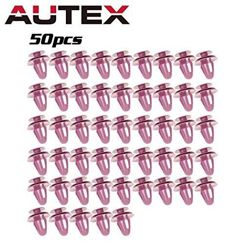 - PartsSquare AUTEX Front Rear Door Trim Panel Car Retainer Clips 50pcs Nylon Bumper Fender Liner Fastener Rivet Push Clips Retainer Fastener Replacement for Lexus/Scion/Toyota