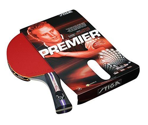 Stiga Premier Table Tennis Bat - Red by Stiga by Stiga