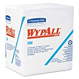 "Kimberly-Clark Wypall X60 Reinforced Disposable Wiper, 13"" Length X 12-1/2"" Width, White (12 Packs of 76)"