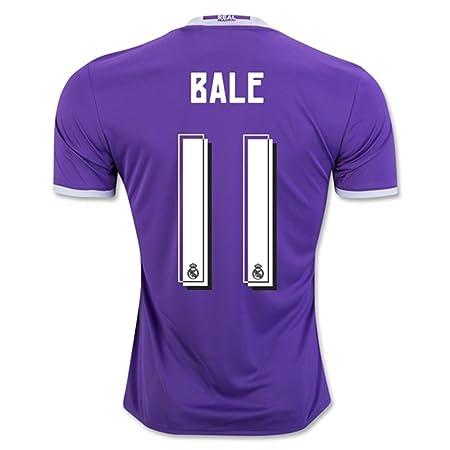 2016 2017 Real Madrid CF 11 Gareth Bale Away Football Soccer Jersey In  Purple  Amazon.co.uk  Sports   Outdoors 1036cf21be52b