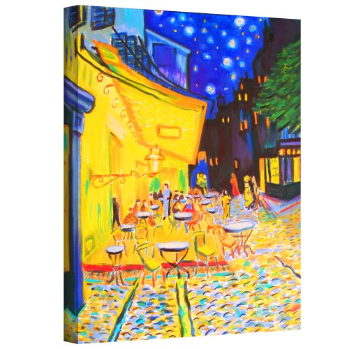 Art Wall 'Café Terrace by Vincent Van Gogh' by Susi Franco Gallery Wrapped Canvas Artwork, 32 by - Stores Warwick In Ri