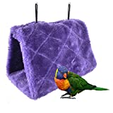 Bello Luna Purple Parrot Nest Pet Bird Nest Winter Warm Hammock Hanging Cave Cage Plush Happy Hut Tent Bed(S)