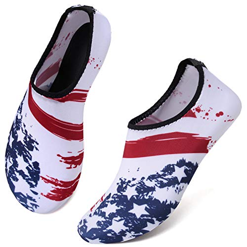 JIASUQI Outdoor Lightweight Pool Beach Swim Surf Athletic Aqua Water Shoes Socks for Kids Women Men