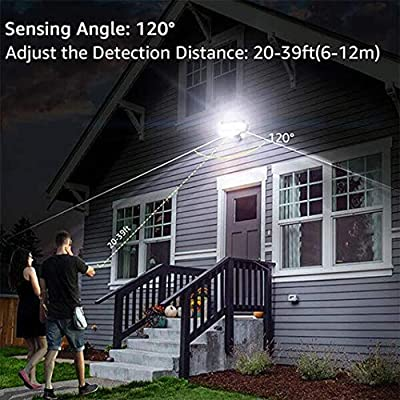 Dusk-to-Dawn Security Lights with Motion Sensor, 5000K Daylight White, ETL Certified, IP65 Outdoor, 110V 120V Dual-Head Rotatable LED Flood Light for Porch, Garage, Yard, Driveway, EMANER