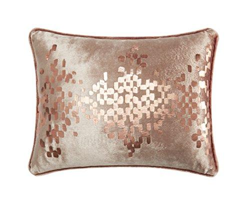(Casa Distressed Metallic Geo Dec Pillow Oblong Copper)
