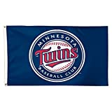 WinCraft MLB Minnesota Twins 01782115 Deluxe Flag, 3' x 5'
