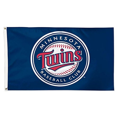 Minnesota Twins Banner (MLB Minnesota Twins 01782115 Deluxe Flag, 3' x 5')